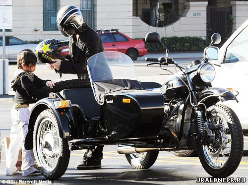 Brad Pitt has ridden out Russian motorcycle Ural Mountains