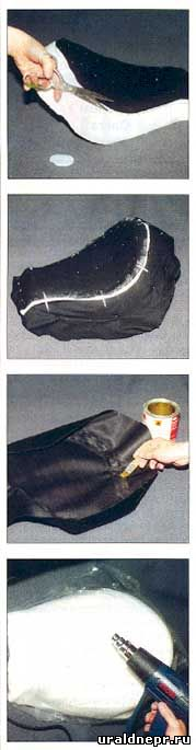 Выкройка для чехла на седло