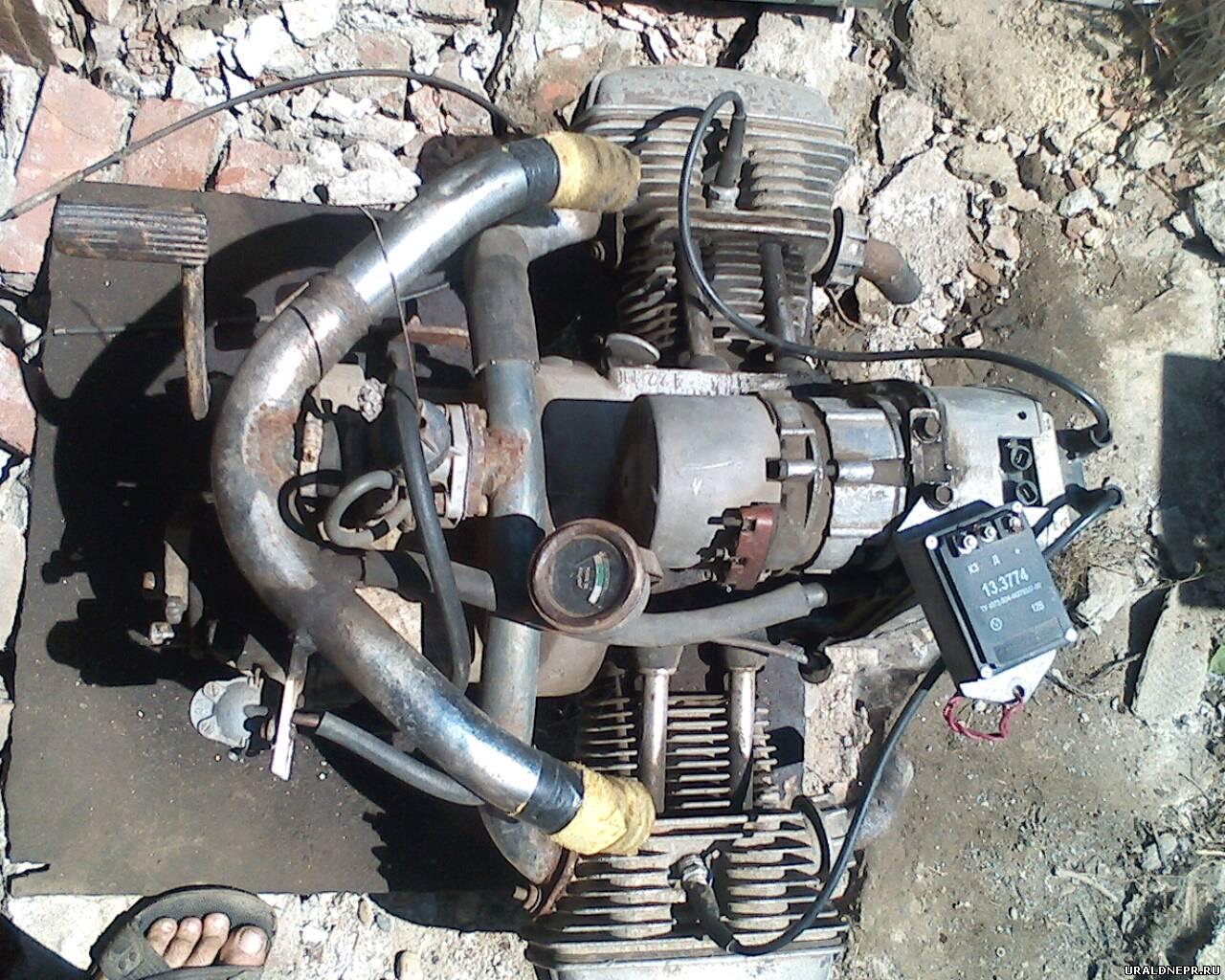 переходник под один карбюратор на Мотоцикл Урал #8