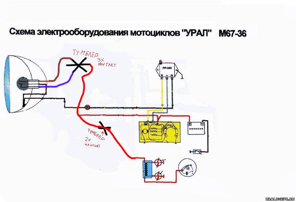 Простая схема проводки на днепре