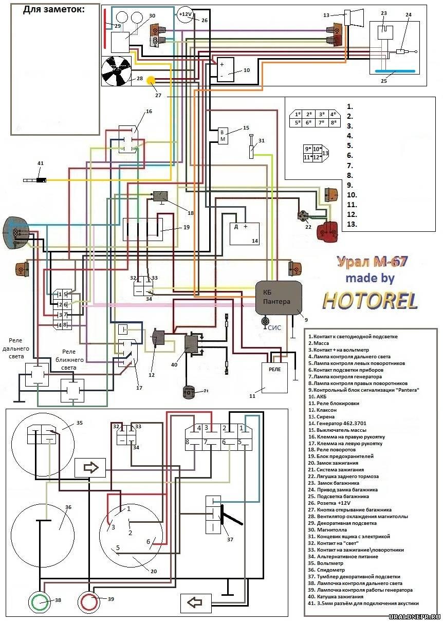 схема проводки мотоцикла юпитера 3