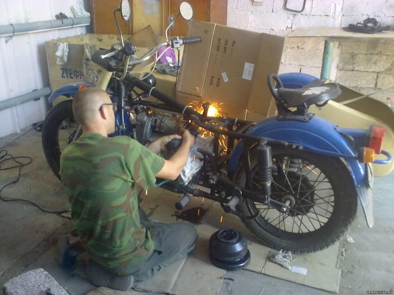 течь редуктора Мотоцикла Урал #5