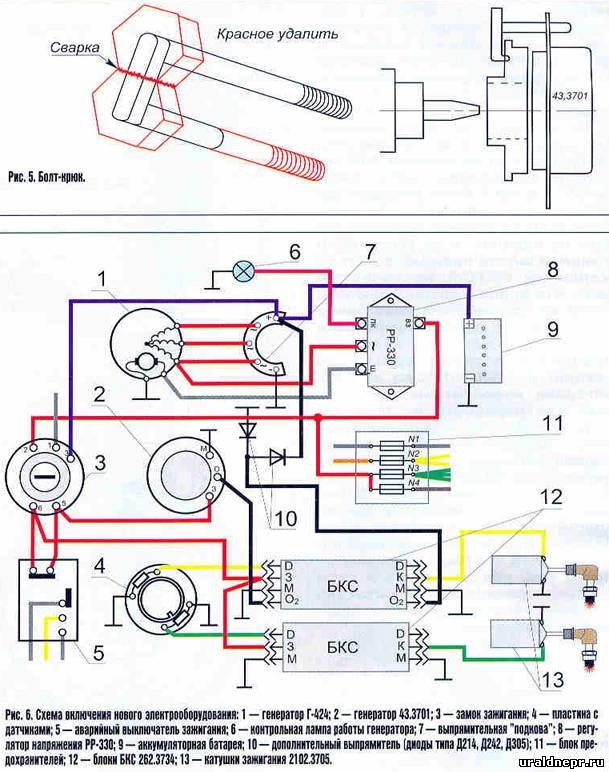 штатный генератор Г-424 не